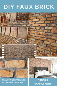 Do It Yourself Home Decorations Code: 7033698966 Faux Brick Wall Panels, Fake Brick Wall, Brick Wall Paneling, Faux Stone Panels, Faux Panels, 3d Wall Panels, Brick Flooring, Floors, Faux Stone Sheets
