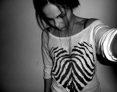 Zebra print heart shirt ♡