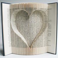A Book Folding Tutorial - Inverted Heart - For Reading Addicts