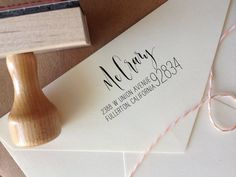 Calligraphy Return Address Stamp  Mixed by AngeliqueInk on Etsy, $44.50
