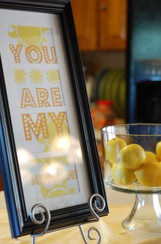 you are my sunshine baby shower theme idea