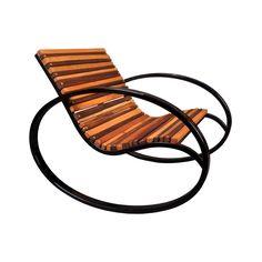 Schommelstoel voor in de tuin - Over the River Rocking Chair | dotandbo.com