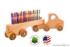 Titular  titular de crayón madera de por CountrysideGiftsLLC