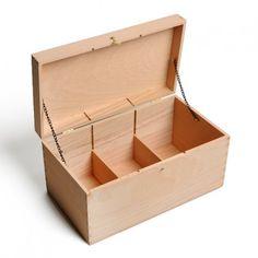 Boîte de rangement pour graines, bois de hêtre
