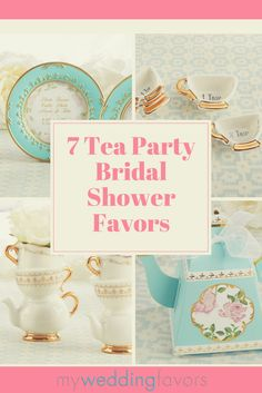 An intimate gathering surrounded by a fragrant garden? Sounds like the perfect place for a tea party bridal shower. Whether you're out in the garden soaking up the sunshine or inside a quaint old inn, the tea party theme will fit right in. | 7 Tea Party Bridal Shower Favors | My Wedding Favors