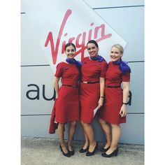 Virgin Australia Stewardesses @nikkibadger