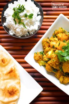 Curried Cauliflower and Potatoes are one of my favorite side dishes from our friend from India.They have an amazing butter and Indian curry spice flavor. Curry Recipes, Vegetarian Recipes, Cooking Recipes, Vegan Meals, Healthy Meals, Indian Food Recipes, Asian Recipes, Ethnic Recipes, Indian Foods