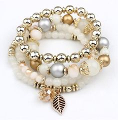 LEMOER Designer Fashion Multilayer Crystal Beads Leave Tassel Bracelets & Bangles Pulseras Mujer Jewelry for Women Gift Silver Bracelets, Bangle Bracelets, Silver Ring, Diamond Bracelets, Tassel Bracelet, Schmuck Design, Handmade Bracelets, Earrings Handmade, Crystal Beads