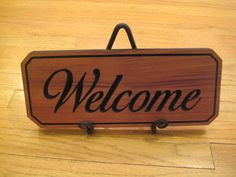 Wooden Welcome Sign in Cedar  will custom make by mbguest on Etsy, $20.00