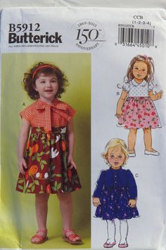 Butterick 5912 Toddlers' Dress