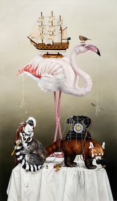 Strange Travellers by Kate Bergin #art #animals
