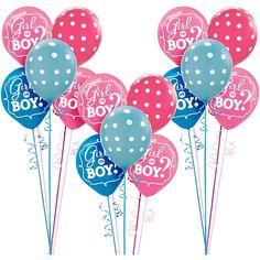 Girl or Boy Gender Reveal Supplies Gender Reveal Party Games, Gender Reveal Party Supplies, Gender Reveal Balloons, Reveal Parties, Baby Shower Supplies, Kids Party Supplies, Polka Dot Balloons, Baby Shower Activities, Baby Shower Balloons