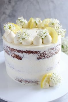 Lemon, Elderflower and White Chocolate Cake — Hannah Bakes