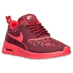 Women's Nike Air Max Thea Print Running Shoes| Finish Line | Team Red/Action Red/Deep Burgundy