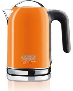 I bought this one! De'Longhi DeLonghi Orange 6-Cup Electric Tea Kettle from Lowes | BHG.com Shop