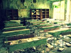 Abandoned school in the ghost town of Prypiat, Ukraine (via flickr) Prypiat is an abandoned city in the zone of alienation in northern Ukraine, near the border with Belarus. The city was founded in 1970 to house the Chernobyl Nuclear Power Plant...