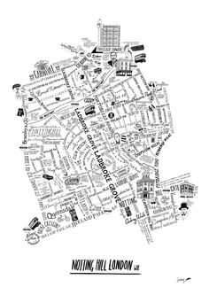 Notting Hill Map / Zoe More O'Ferrall