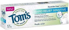 TOMS OF MAINE: Rapid Relief Sensitive Natural Toothpaste, 4 oz