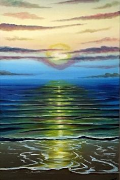 Sunset Upon The Sea by Aisha - Use the 'Create Similar' button to commission an artist to create your own artwork.