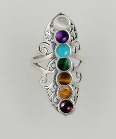 A Beautiful Sterling Silver Chakra Ring Made in America The Silver Dragon- Rings http://www.amazon.com/dp/B00FL2M1OU/ref=cm_sw_r_pi_dp_BIZBvb0QT1A6Y