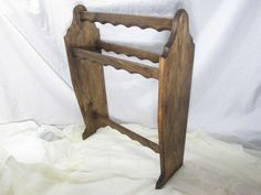 Standing Quilt Rack, Colonial Style ~ Stained