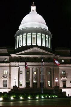 Arkansas Capitol Dome, Little Rock, Arkansas. I went to a wedding in the rotunda when I lived in Little Rock. Arkansas Usa, Arkansas Razorbacks, Jasper Arkansas, Mississippi, County Seat, Capitol Building, Little Rock, United States, 50 States
