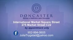Doncaster-Julia Trygstad - Our next featured business is distinctive one of kind quality clothing where you can shop in the comfort of a home with a one on one appointment. You can order gift certificates from Julia directly. Women of Distinction wear Doncaster.  Let's start our Christmas Shopping.  www.Around-Town.TV