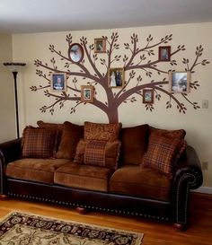 Tree Wall Decal Wall Sticker Family Tree Decal Photo Frame Tree Decal on Etsy, $114.95
