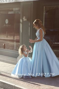 >> Click to Buy << Saudi Arabic Blue Two Pieces Prom Dresses 2017 Hot Sale Ball Gown Princess Mother and Daughter Dress Fmaily Party Evening Gowns #Affiliate