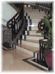Marble stairs & floors