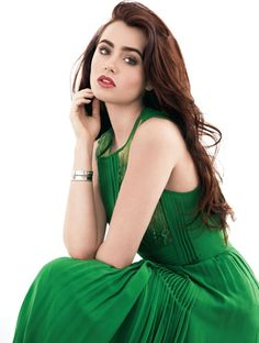 Tracey Mattingly - Lily Collins on the Cover of Fashion Magazine