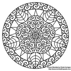 dont eat the paste has many mandalas to color via oneprettything - Art Therapy Coloring Pages Mandala
