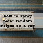 striped rug tutorial - the easy way