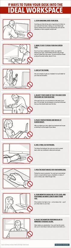 #Infographie : 9 moyens de transformer son bureau en espace de travail idéal - Maddyness