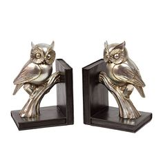 Animal: Gold Resin Owl Bookend