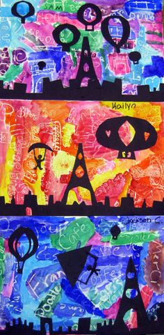 Cassie Stephens: In the Art Room: Parisian Silhouettes 2nd Grade Art, Ecole Art, School Art Projects, Diy Projects, Kindergarten Art, Middle School Art, Art Lessons Elementary, Art Lesson Plans, Art Classroom