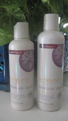 Organic Care Systems Status Quo Shampoo & Conditioner by Organic Care Systems. $38.75. Certified Organic Ingrediants. No SLS. No Parabens. Status Quo is for normal and color treated hair. Gentle enough for every day use. It maintains the hairs natural strength while protecting it from UV damage. The soft, pleasant scents accompany the mild, gentle wash to provide a relaxing, rewarding, and enjoyable shampoo experience free of toxins, dangerous chemicals, and ca...