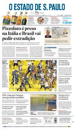 Capa de hoje: Pizzolato é preso na Itália e Brasil vai pedir extradição http://oesta.do/LB4GJk