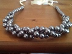 Silver Twisted Pearl Necklace by lilkt384 on Etsy, $22.00