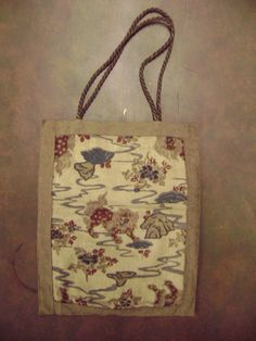 Vintage 1960s Bag Tote Purse Chinese Print Fabric by TFSloan, $35.00