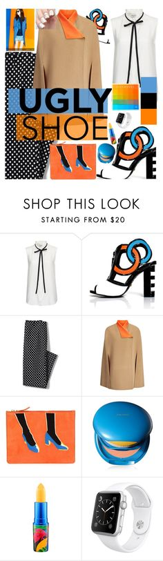 """crazy shoes"" by cutandpaste ❤ liked on Polyvore featuring Frame Denim, Kat Maconie, Lands' End, Joseph, Lizzie Fortunato Jewels, Shiseido, MAC Cosmetics and Apple"