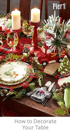 Create a table setting that expresses your style this season. Our dinnerware and drinkware shine atop chargers, all set atop wonderfully festive table linens.