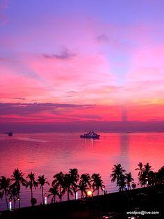 Sunset at Manila Bay - Jamaica Manila, Beautiful Dream, Beautiful World, Beautiful Places, Banaue, Philippines Travel, Beautiful Islands, Vacation Spots, Strand