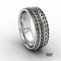 Silver folds ring. $250.00, via Etsy.