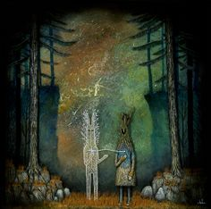 New Mixed-Media Paintings by Andy Kehoe and Redd Walitzki - My Modern Met