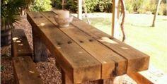 Railway sleeper table