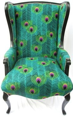 Peacock Print Chair, yes please