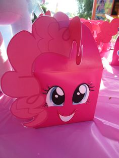 Pinkie Pie favors made from gable box