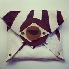 Handmade leather clutch #fabydesigns