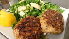Grandma's Famous Salmon Cakes Recipe - Simple and tasty pan fried salmon cakes! Just salmon, eggs, onion and black pepper. Mix it all up, shape into patties and you are ready to go! Great with macaroni and cheese. Fish Recipes, Seafood Recipes, Cooking Recipes, Cooking Tips, Cake Recipes, Seafood Meals, Cooking Pork, Cooking Turkey, Fish Dishes